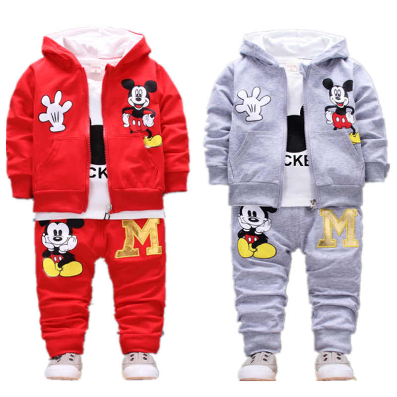 aa4f40060 Children's Clothes Set For For Baby Boys Girls Cartoon Mickey Mouse Hooded  Coat+T-