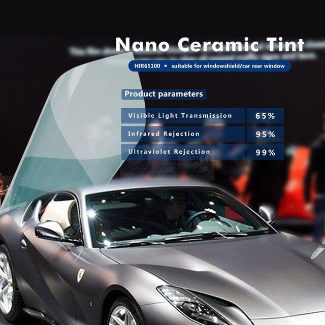 "Premium Light Blue Nano Ceramic Film 65% VLT Car/Building Window Film 60"" x 65'/ 1.52x20m roll HIR65100"