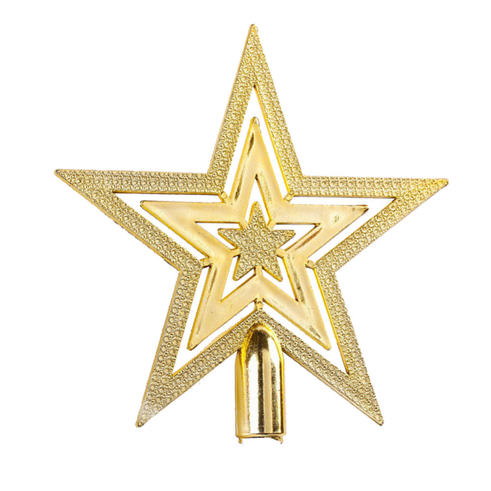 Star For A Christmas Tree: Aliexpress.com : Buy 9.5CM Golden Glitter Star Christmas