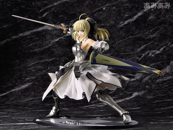 23cm 1 pcs Fate Stay Night Saber Lily Avalon 1 7 Painted PVC Figure B New in Box Toy fate stay night fate extra red saber pvc figure toy anime collection new