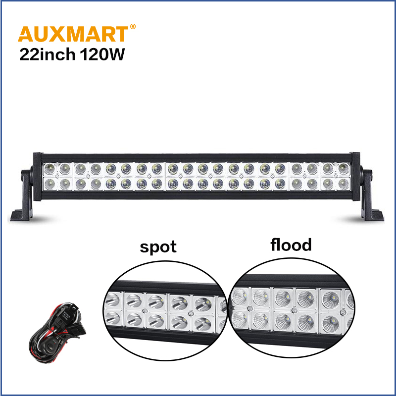Auxmart CREE chips 22 120W bar font b light b font spot flood combo beam led