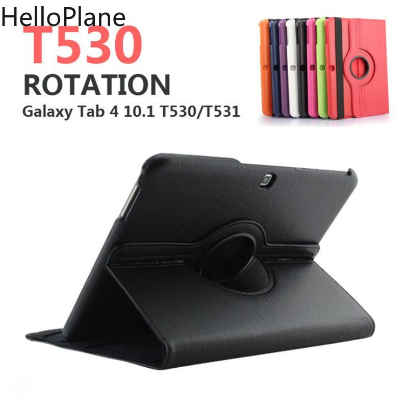 For Samsung Galaxy Tab <font><b>4</b></font> <font><b>10.1</b></font> inch T530 T531 T535 SM-T530 T533 SM-T531 SM-T535 Tab4 Tablet Case Bracket Flip Leather Cover image