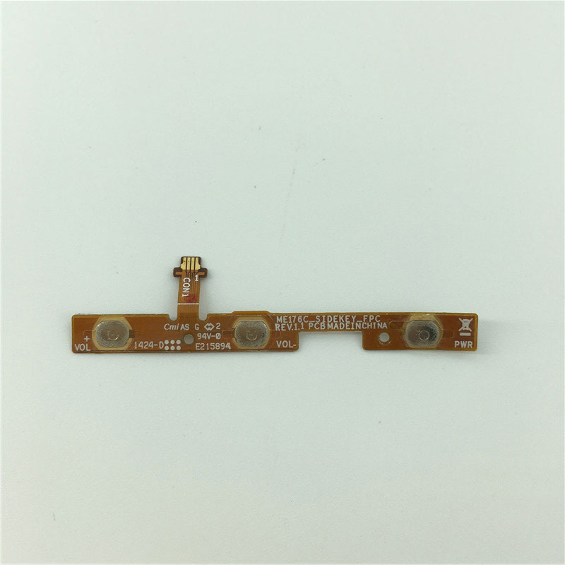 Volume Button Vibration Motor And Power Switch Flex Cable For ASUS Memo Pad 7 ME176