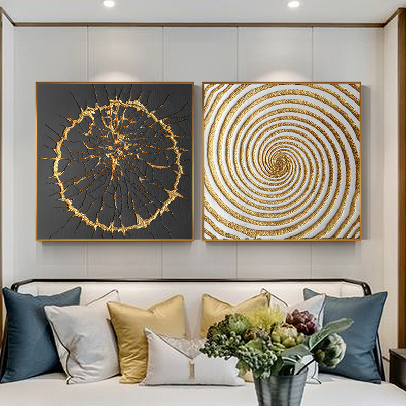 Modern Black And Gold Poster And Print Luxurious Canvas Painting Unique Wall Art Picture For Living Room Studio Aisle Home Decor gold metal duvar saati