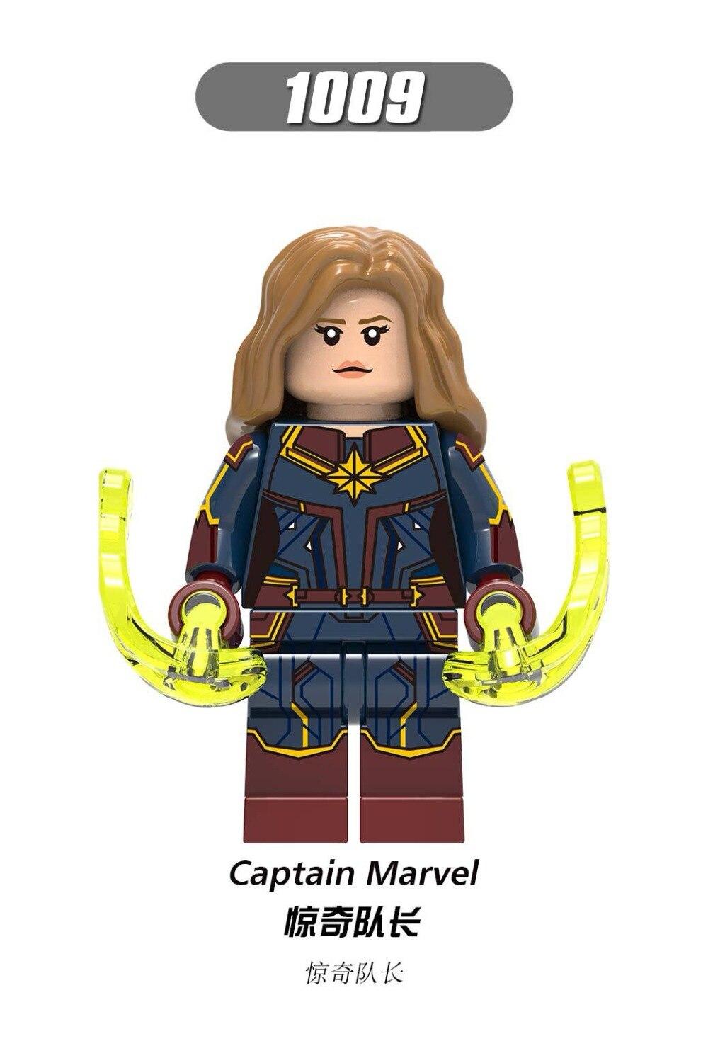 50PCS Captain Marvel Avengers 4 Infinity War Super Heroes Captain America Building Blocks Toys for Children