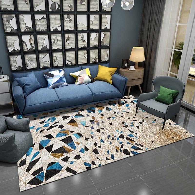 Nordique INS lumière luxe abstrait style Simple chambre tapis salon table basse maison frais chambre lavable grand tapis