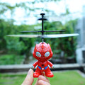 Small RC Spider Man Aircraft Flying Induction Helicopter Kid Child Toys
