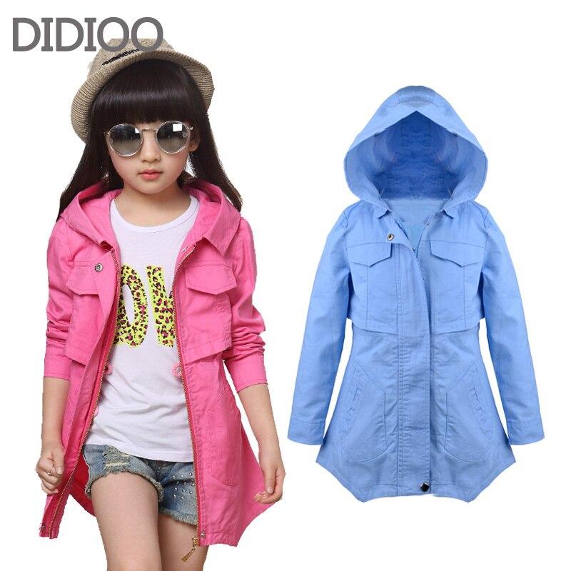 c5f1cda40bc6 Детские куртки для девочек пальто длинный хлопок ребенок ветровка для  девочки од
