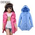Детские куртки для девочек пальто длинный хлопок ребенок ветровка для девочки одежды осень весна экипировка 6 8 10 12 лет