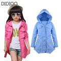 Baby children jackets for girls trench coat long cotton child windbreaker for girl clothes autumn spring outfit 6 8 10 12 years