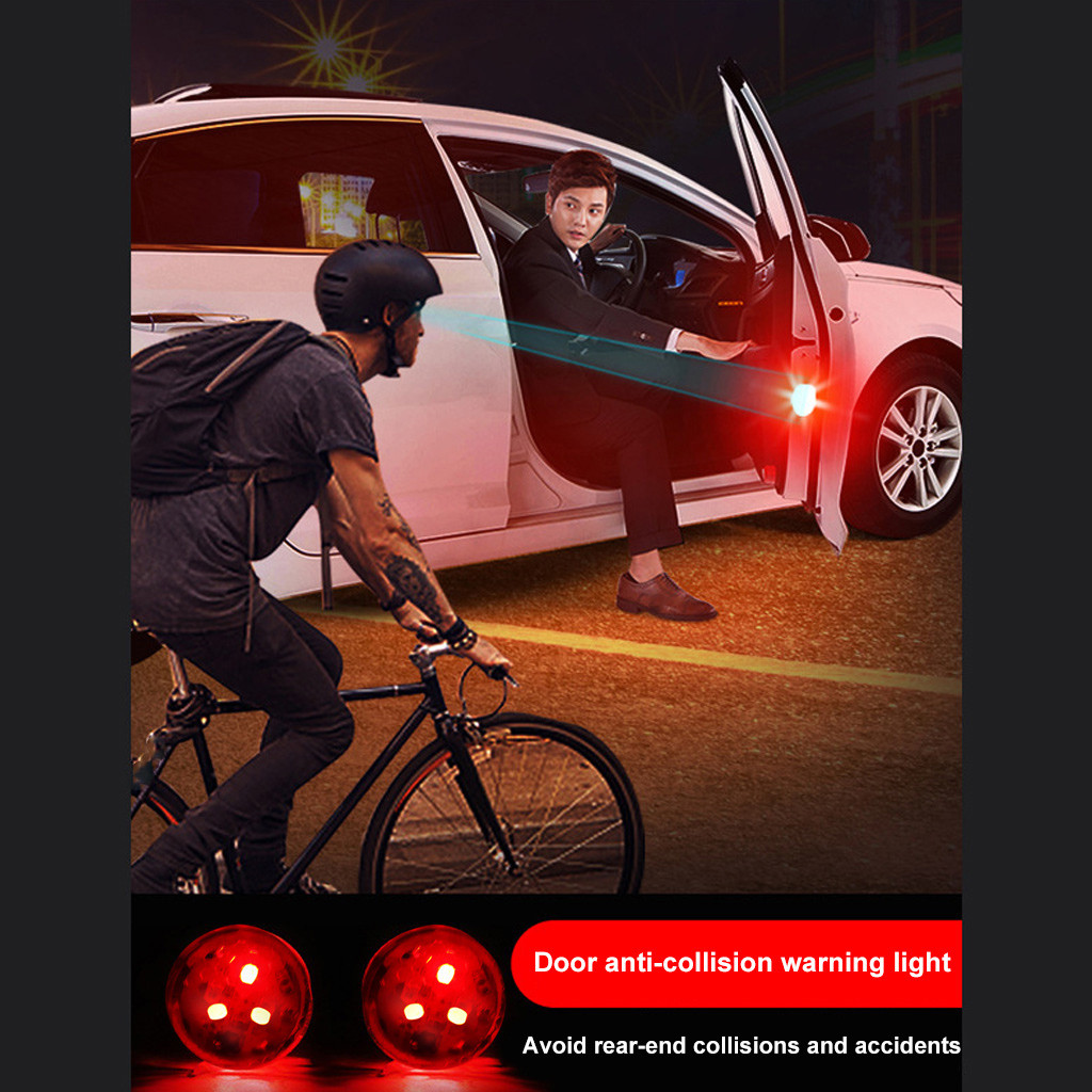 Image 2 - 2x Universal Car Door 5 LED Opened Warning Flash Light Kit Wireless Anti Collid LED Lamps For Cars Car Accessories-in Signal Lamp from Automobiles & Motorcycles