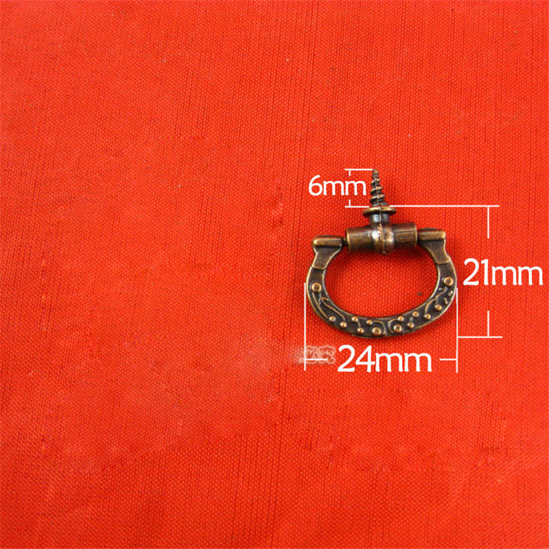 2724MM 30pcs small wooden box handle jewelry box pulls drawer