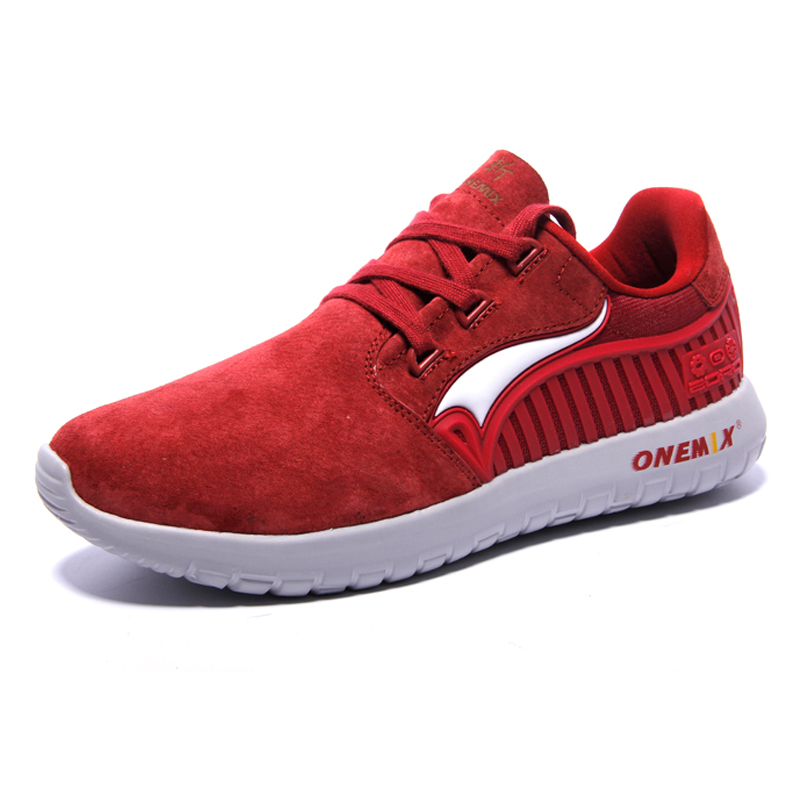 ONEMIX Men s Running Shoes Male chaussures de sport Suede Rubber Comfortable Athletic Shoes for Men