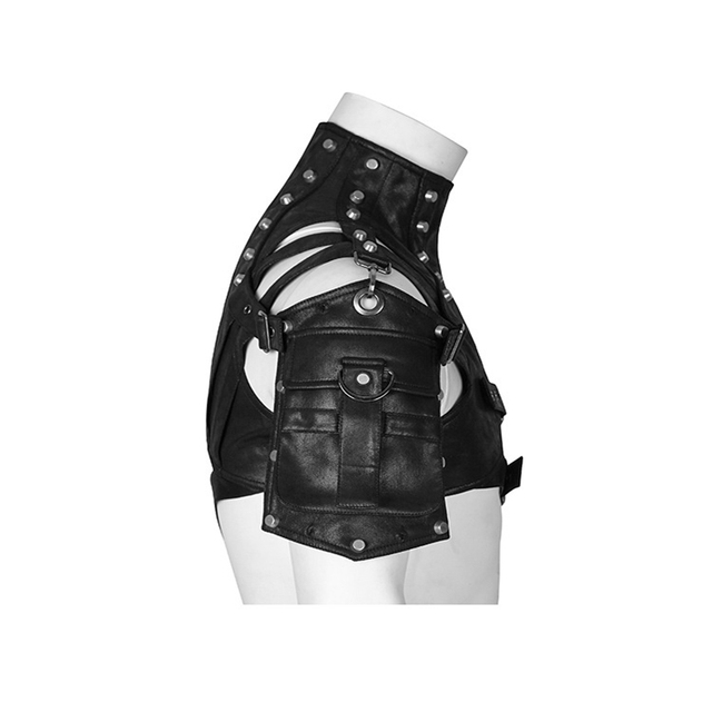 Leather Armor For Men And Women Shoulder Bag Accessories Show Locomotive Party Props 2