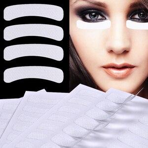 100 Pcs White Eye Eyelash Extension Fabrics Pads Stickers Patches Adhesive Tape Makeup Beauty Tool(China)