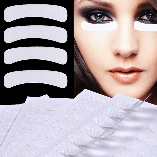 100 Pcs White Eye Eyelash Extension Fabrics Pads Stickers Patches Adhesive Tape Makeup Beauty Tool