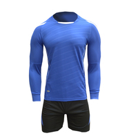 Breathable Long Sleeve Soccer Jersey Suits Survetement Football 2017 Men Kids Football Jersey Kits Blank Football