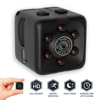 COP CAM Security Camera Video Motion Detection 32GB Card SQ11 Mini Cam Black