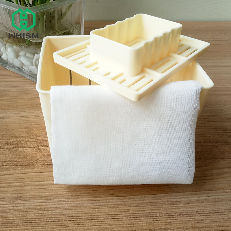 WHISM DIY Tofu Press Homemade Tofu Maker Tofu Machine Pressing <font><b>Mould</b></font> Kit <font><b>Cheese</b></font> Molds <font><b>Cheese</b></font> Cloth Kitchen Tool Tofu Molds image