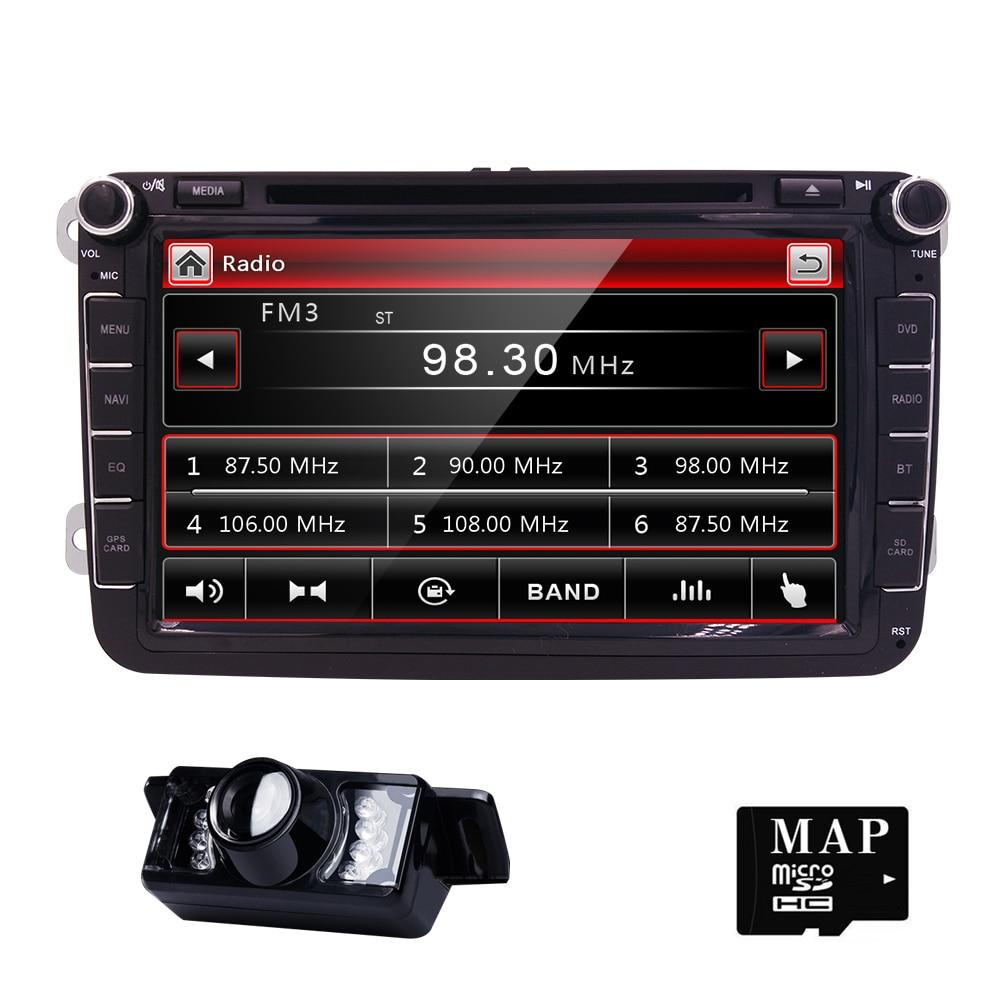8 2 Din Car DVD GPS Audio player for Volkswagen PASSAT POLO GOLF wih DVB T