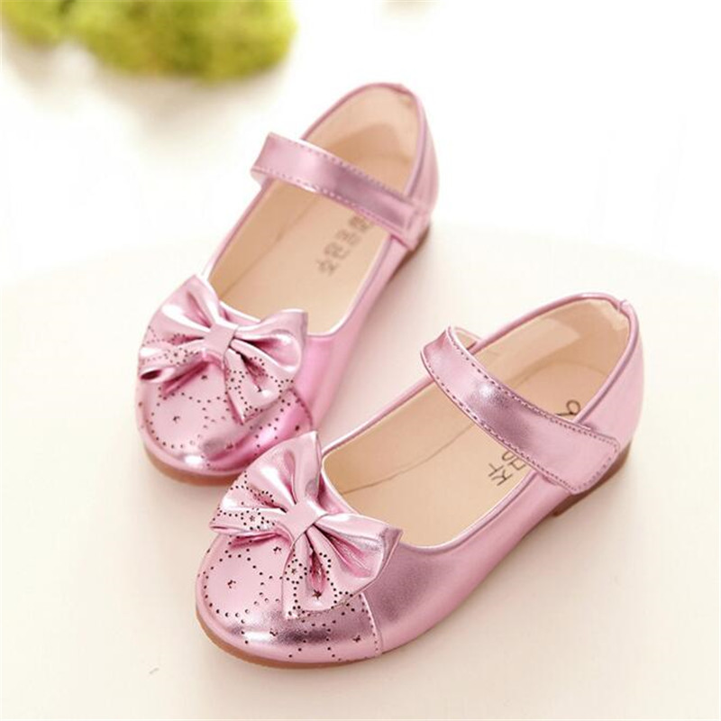 WEONEWORLD Girls Leather Shoes 2018 Summer Children Princess Shoes for  Party Butterfly Girls Shoes for Weddings Girls Age 10 12-in Leather Shoes  from Mother ... 39d8ed195e12