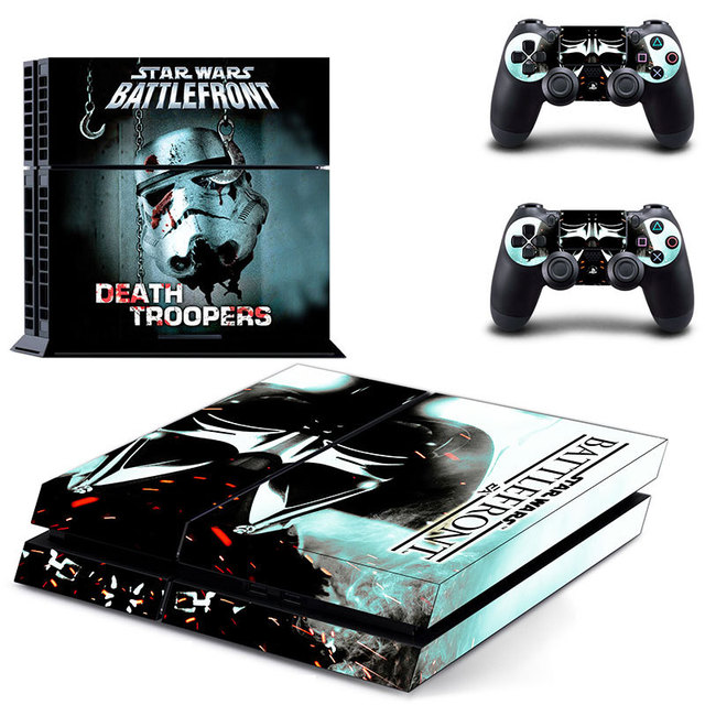 Star wars death troopers skin sticker for ps4 system playstation 4 console with 2 controller skins