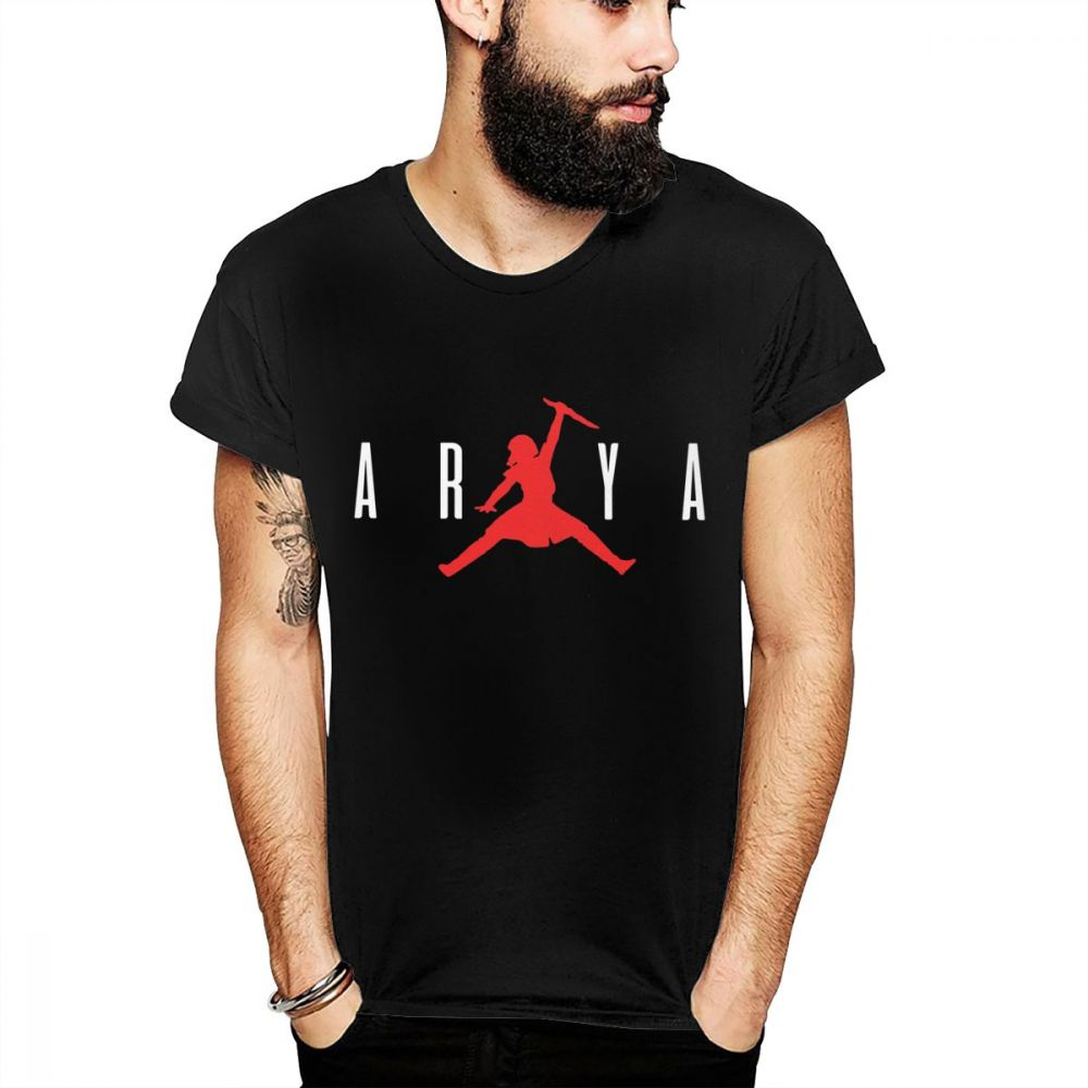 d185715fc1075 GAME OF THRONES T-Shirt Arya Stark Not Today T Shirt Summer Man Cool  Fashion Design Crewneck Tee Shirt