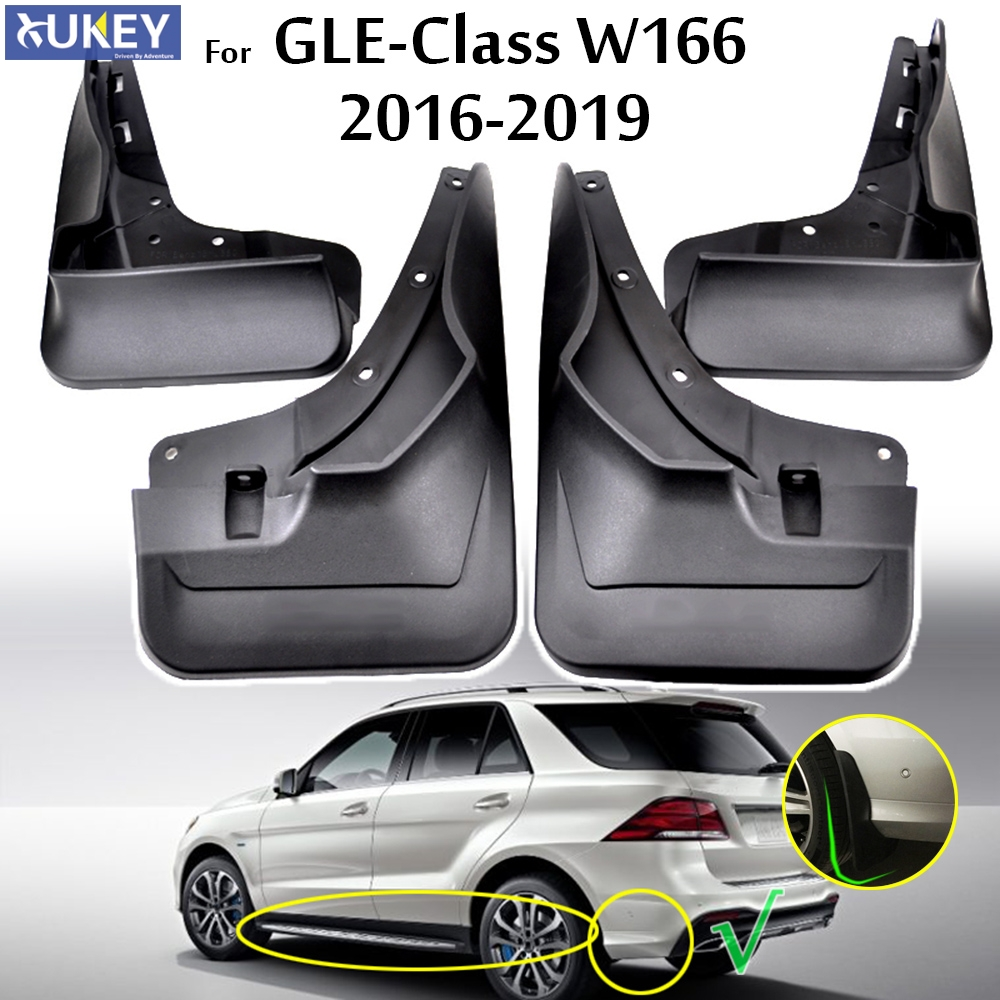 Set Mud Flaps For Mercedes Benz GLE Class W166 2016 2017 2018 2019 W/Running Board Mudflaps Splash Guards Front Rear Mudguards Mercedes-Benz A-класс