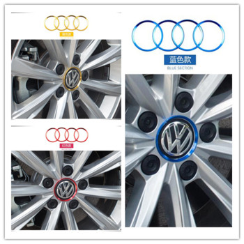Car Styling Hub Decorative Sticker For Volkswagen VW Beetle A5 Jetta 5 6 Phaeton Scirocco 3rd Polo 5 6 Touran Accessories image