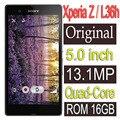 Оригинальный Sony Xperia Z L36h Мобильный Телефон 16 ГБ четырехъядерный процессор 3 Г GSM, WIFI, GPS 5.0 ''13. 1MP C6603 C6602 восстановленное
