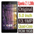 Original Sony Xperia Z L36h Mobile Phone 16GB Quad-core 3G GSM WIFI GPS 5.0'' 13.1MP C6603 C6602 Refurbished