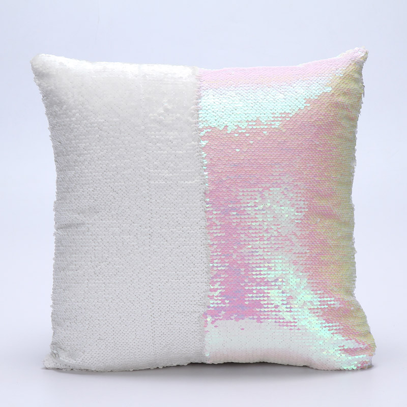 Colorful Color Cushion Cover Pillowcase Reversible Sequin