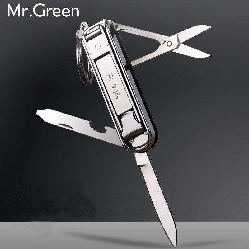 Multifunctional nail clipper stainless steel belt finger file ring finger scissors belt bottle opener finger plier scissorss L цена