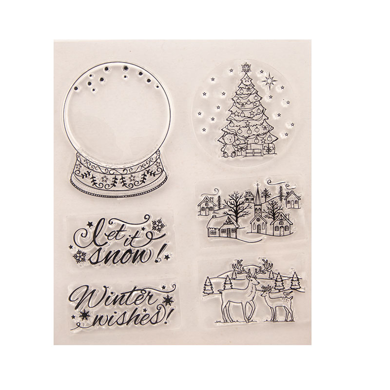 Tree DIY Silicone Clear Stamp Cling Seal Scrapbook Embossing Album Decor Craft Metal Cutting Dies Scrapbooking Christmas