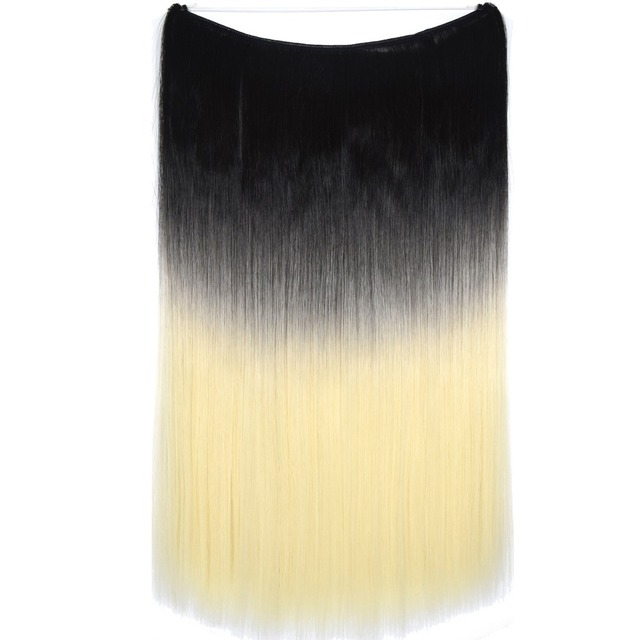 Topreety heat resistant synthetic hair 24 60cm 100gr silky topreety heat resistant synthetic hair 24 60cm 100gr silky straight elasticity wire halo hair extension pmusecretfo Gallery