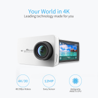 YI 4K Action Camera White Mini Sports Camera 2.19 1