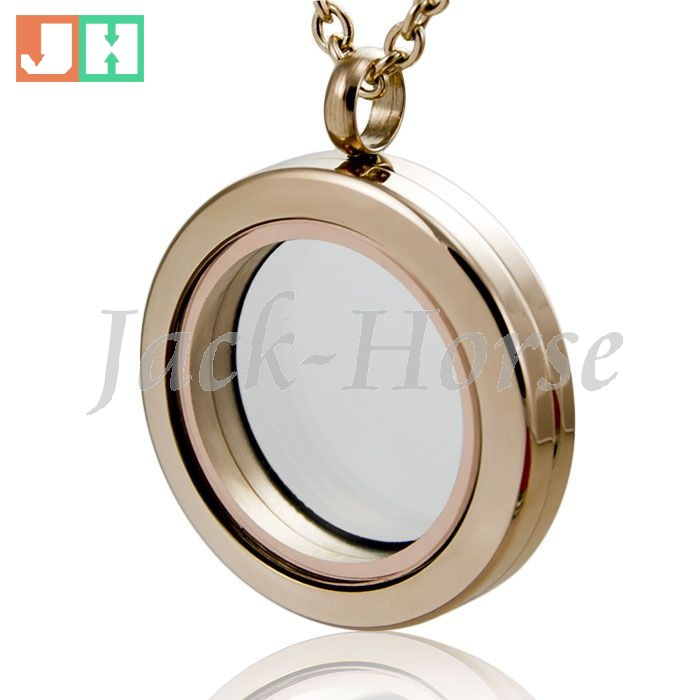 Free shipping high quality 20mm 25mm 30mm round 316L stainless steel magnetic locket rose gold locket