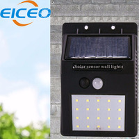 EICEO LED Solar Lamp Outdoor 20 LEDs Motion Sensor Wall Garden lamp Lampada Luz Solar Waterproof Garden Led Solaire Street Light