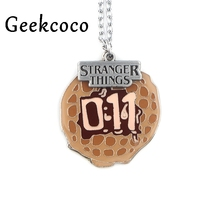 Stranger things Creative Pendants Necklaces Punk Casting Titanium Stainless Steel for Men Women Jewelry party favors gifts J0439