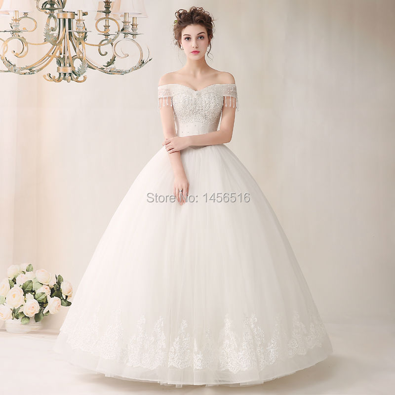 dressy new star ball gown off shoulder real sample wedding dresses top quality handmade applique beaded