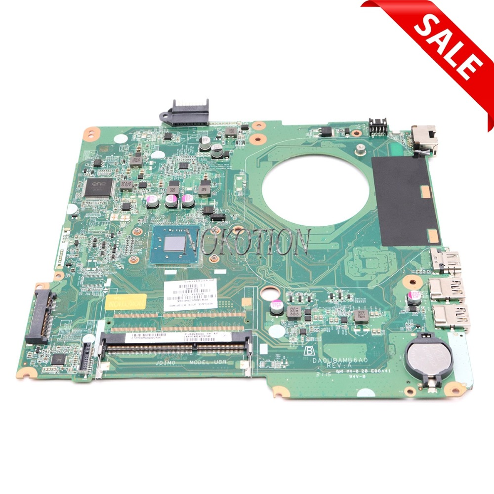все цены на NOKOTION 828164-001 Laptop motherboard For hp pavilion 15-F DA0U8AMB6A0 Main board full tested онлайн
