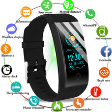 2019 New Smart Bracelet Heart Rate Monitor IP68 Waterproof Color Screen Fitness Tracker Band Bluetooth 4.0 Sports Wristband(China)