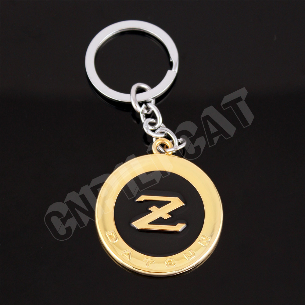 3D DATSUN Z Logo Car Key Chain Key Ring <font><b>Keychain</b></font> for Fairlady Z Z33 Z34 <font><b>350Z</b></font> 370Z Etc. Gold&Black image