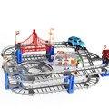73 pçs/set Thomas Variedade Multi-pista de Corrida De Carro Elétrico Montagem de Brinquedos Do Presente Do Bebê Conjunto de Brinquedos para Crianças Mini Fast Track
