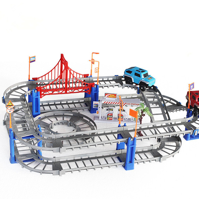 73pcs/Set Thomas Car Electric Variety Multi-track Racing Assembling Toy Set Children Mini Fast Track Toys Baby Gift