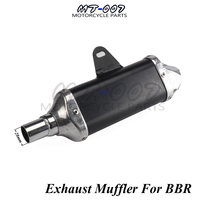 Aluminum Exhaust Muffler pipe For BBR Style Chinese KAYO BSE Apollo Pit Bike Dirt Bike 110cc 125cc