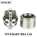 Cigarro eletrônico vape caixa mod núcleo atomizador vaporizador smok tfv8 x1079 rba bobina e tubo de vidro do bebê