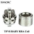 Núcleo atomizador vaporizador cigarrillo electrónico vape cuadro mod smok tfv8 bebé x1079 rba coil y tubo de vidrio