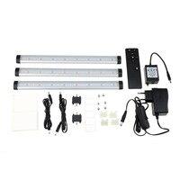24 LED 3 Straps Motion Sensor Light Closet Cabinet Night Light Warm White with Black Remote Controller US/EU/AU Plug