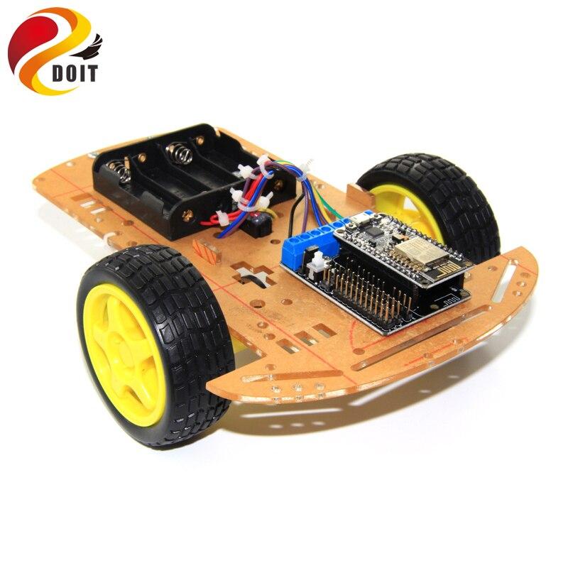 DOIT Wireless WiFi Smart 2WD Car Chassis with NodeMCU ESP8266 Board+ Motor Shield for ESP8266 ESP-12F DIY RC Toy Remote Control